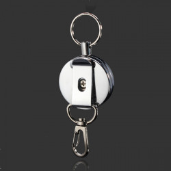 4cm Full Metal Tool Belt Retractable Key Ring Pull Chain Clip With Hook