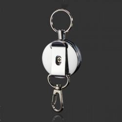 4cm Full Metal Werkzeuggürtel Retractable Schlüsselring Zugkette Clip mit Haken