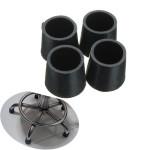 4pcs 22mm Diameter Furniture Table Chair Foot Rubber Pad Cover Black Industrial & Scientific