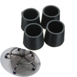 4pcs 22mm Diameter Furniture Table Chair Foot Rubber Pad Cover Black