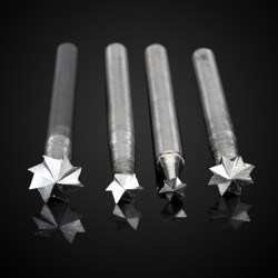 4stk 6mm Pentagram Cutter Holzbearbeitung Meißel Holzwurzel Zahneisen