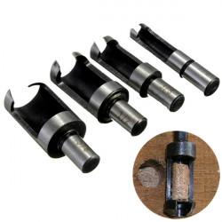 4stk Carbon Steel Træbearbejdning Plug Cutter Bor Skæreværktøj