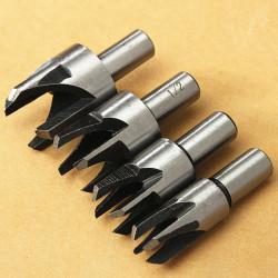 4stk Claw Wood Plug Hole Cutter Træværk Plug Cutting Bore