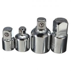 4stk Socket Ratchet Konverter Reduktionsgear Adaptere 1/2 3/8 1/4 Tomme Set