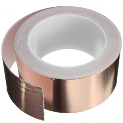 50mmX20m Copper Foil Tape Single Conductive EMI Shielding Adhesive