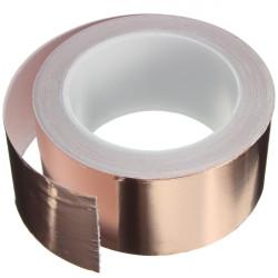 50mmX20m Kobber Folie Tape Single Ledende EMI Afskærmning Adhesive