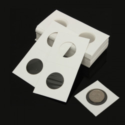 50pcs 2x2 Cardboard Mylar Paper Coin Holder Collection Flip Supplier