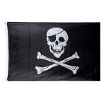 5 * 3 Ft. Jolly Roger Skull Pirate Flag Industrial & Videnskab