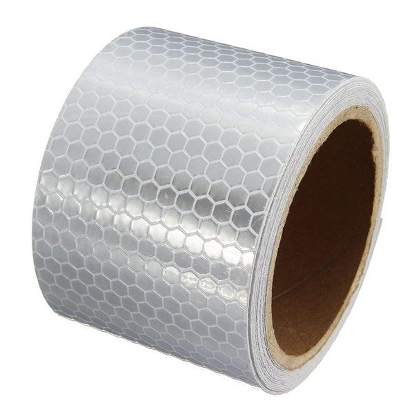 5cm * 3M Weiß Reflektierende Sicherheitshinweis Auffälligkeit Tape Film Aufkleber Industriell & Wissenschaftlich