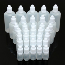 5pcs 5-100ml Empty Plastic Squeezable Eye Liquid Dropper Bottles