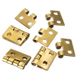 5pcs Mini Metal Hinges For 1/12 Dollhouse Miniature Furniture