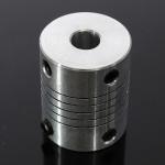 6.35x8mm CNC Motor Jaw Shaft Coupler 6.35 til 8mm Fleksibel Kobling # 04 Industrial & Videnskab