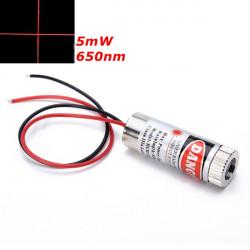 650nm 5mW Fokuserbar Röda Korset Modul Laser Laser Generator Diod