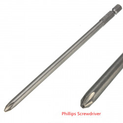 6 Inch 150mm PZ2 Screwdriver Bit 1/4 Inch Hex Shank Screwdriver Bit