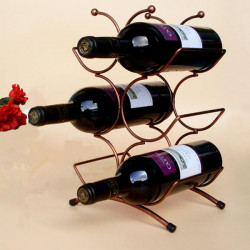 6 Weinflaschen Chrome Halter Speicher und Ausstellungsstand