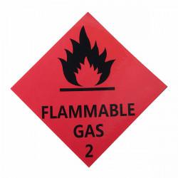 6stk Brandfarlig Gas Advarsel Stickers Danger Signs