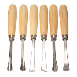 6pcs Graver Woodcarving Knife Woodworking Chisel Wood Carving Tool