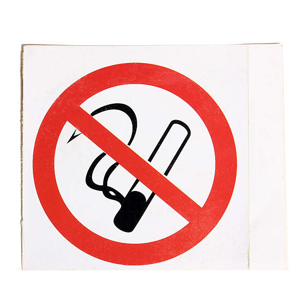 6pcs No Smoking Prohibition Sign Warning Stickers 75*75mm Industrial & Scientific