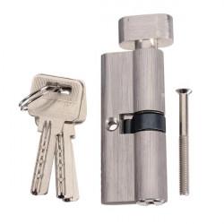 70mm Aluminium Lås Cylinder Säkerhetsdörr Lås Cylinder med 3 Iron Keys