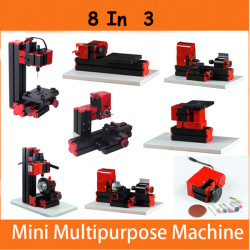 8 In 3 Motorized Mini Machine Jig-saw Grinder Driller Wood Metal Lathe