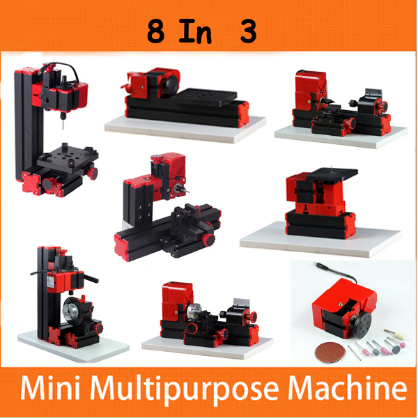 8 In 3 Motorized Mini Machine Jig-saw Grinder Driller Wood Metal Lathe Industrial & Scientific