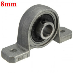 8mm Bore Diameter Pillow Block Mounted Ball Bearing KP004 Zinc Alloy