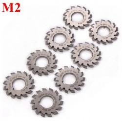 8pcs M2 Module HSS Involute Gear Milling Cutter Set Bore 22mm