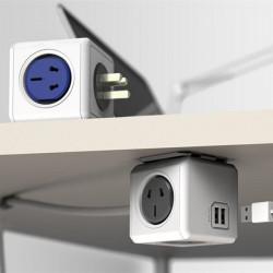 AU Hushållens Cube Kontakt USB Power Outlet
