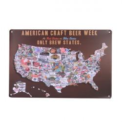American Craft Beer Week Tin Tecken Retro Vintage Metall Pub Väggdekor