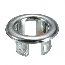 Bathroom Sink Basin Chrome Trim Overflow Hole Round Cover Silver