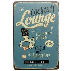 Cocktail Lounge Blechschild Jahrgang Metallplakette Pub Bar Wand Dekor