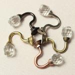Kristallglas Vägg Kläder Towl Tieback Krok Gardin Tassel Hanger Industri & Vetenskap