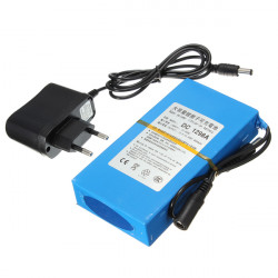 12V 9800mAh Super Laddningsbara Bärbara Litiumbatteri EU Kontakt