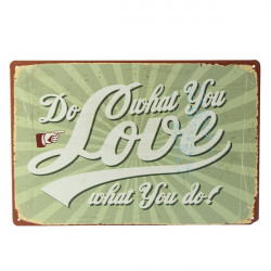 Do What You Love Tin Sign Vintage Metal Plaque Bar Home Wall Decor
