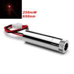 Fokuserbart Laser Modul Red Dot Laser Generator Diode 200-250mW 650nm Industrial & Videnskab