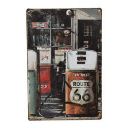 Gas Station Tin Sign Vintage Metal Plaque Pub Bar Home Wall Decor
