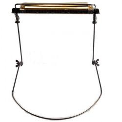 Harmonica Halshållare Spelar Munspel Harp Rack Meatal Inramar Svart