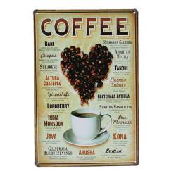 Heart Coffee Blikskilt Vintage Metal Plaque Blikskilt Plakat Bar Pub Vægudsmykning