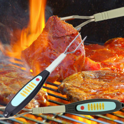 Instant Read Digital BBQ Meat Thermometer Fork For Beef Lamb Pork