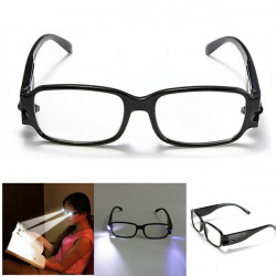 LED Reading Glasses Eye Lup med Falske Detection