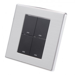 LED Wall Switch Panel Light Switch Four Switch Double Control 250V 10A