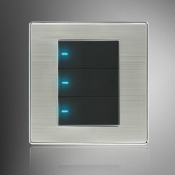 LED Wall Switch Panel Tre Switch Single / Double Kontrol 250V 10A