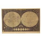 Stor Vintage Månen Karta Kraft Paper Affisch Hem- Väggdekor Lådaning Industri & Vetenskap