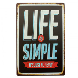 Life Tin Sign Retro Vintage Metal Plaque Pub Bar Home Wall Decor