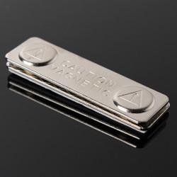 Magnetisk Name Tag Emblem Fastener ID Hållare Metall Kort Stark Magnet