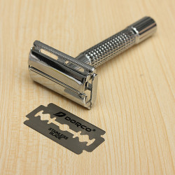 Micro Touch Classic Safety Double Edge Razor with 12PCS Blades Holder