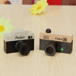 Mini Vintage Camera Wooden Rubber  Stamp Creative Signet