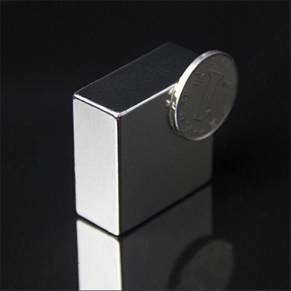 N50 Block Super Strong Jordartsmetaller Neodymmagneter F40x40x20mm Industri & Vetenskap