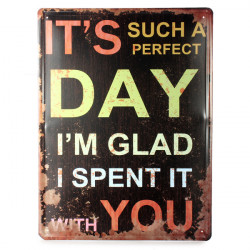 Perfect Day Tin Sign Retro Vintage Metal Plaque Pub Bar Wall Decor