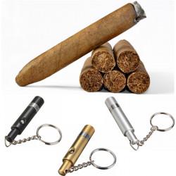 Bärbar Aluminum Cigar Punch Skärare med Nyckelring 6.3 X 1.4 Cm